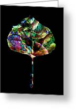Jewel Tone Leaf Greeting Card by Ann Powell