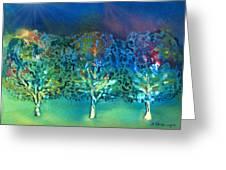 Jeweled Trees Greeting Card