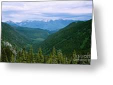 Jewell Basin- Mt Greeting Card