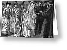 Jewish Wedding, C1892 Greeting Card
