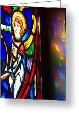 Joan Of Arc Stained Glass Greeting Card