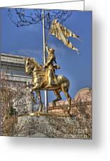 Joan Of Arc Statue New Orleans Greeting Card