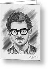 Joe Jonas Drawing Greeting Card