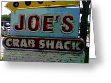 Joe's Crab Shack Greeting Card