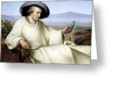 Johann Von Goethe, German Author Greeting Card