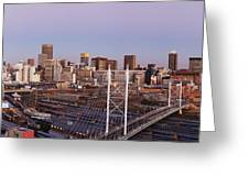 Johannesburg Skyline And Railway Station Greeting Card by Jeremy Woodhouse