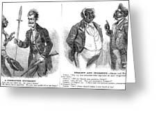 John Brown Cartoon, 1859 Greeting Card by Granger