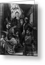 John Brown Meeting Slave Mother Greeting Card by Photo Researchers