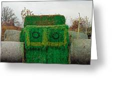John Deer Made Of Hay Greeting Card
