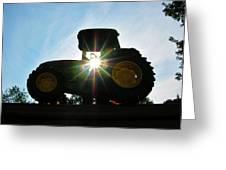 John Deere In The Morning Sun Greeting Card