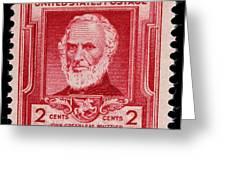 John Greenleaf Whittier Postage Stamp Greeting Card