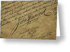 John Hancocks Signature Greeting Card