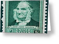 John James Audubon Postage Stamp Greeting Card
