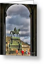 John Of Saxony Monument - Dresden Theatre Square Greeting Card
