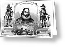 John Winthrop, English Puritan Lawyer Greeting Card by Photo Researchers