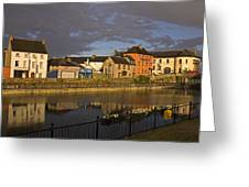 Johns Quay & River Nore, Kilkenny City Greeting Card
