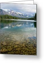 Johnson Lake Rocks Greeting Card