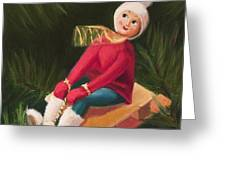 Jolly Old Elf Greeting Card by Joe Winkler