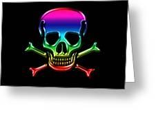 Jolly Roger Rainbow Greeting Card