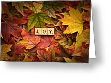 Joy-autumn Greeting Card