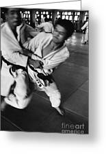 Judo Greeting Card by Bernard Wolff