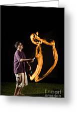 Juggling Fire Greeting Card