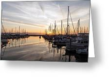 July Evening In The Marina Greeting Card