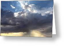 July Rainstorm  Eastern New Mexico Greeting Card