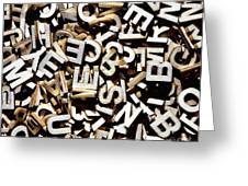 Jumbled Letters Greeting Card