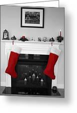 Jumbo Red Stockings Greeting Card