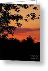 June Sunset Greeting Card
