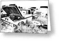 Junkyard Infrared 2 Greeting Card