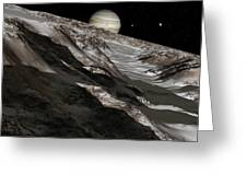 Jupiter From Ganymede, Artwork Greeting Card