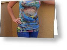 Jupiter Performance Ladies Shirt Greeting Card