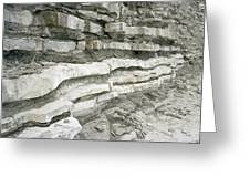 Jurassic Rock Strata Greeting Card
