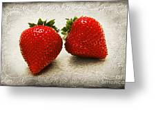 Just 2 Classic Berries Greeting Card