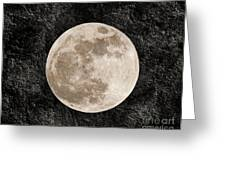 Just A Little Ole Super Moon Greeting Card