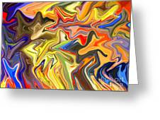 Just Abstract Viii Greeting Card