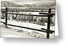 Just Beyond The Fence 1 Greeting Card
