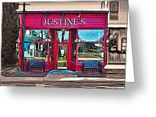Justine's Ice Cream Parlour Greeting Card