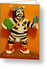 Kachina Clown  Greeting Card by Russell Ellingsworth