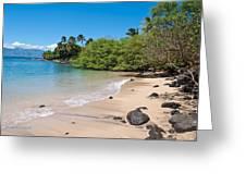 Kahana Beach Greeting Card