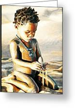 Kalahari Little Boy Greeting Card