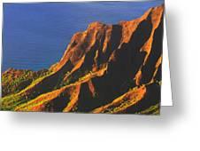 Kalalau Valley Sunset In Kauai Greeting Card