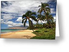 Kamaole Tropical Landscape Greeting Card
