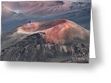 Kamaolii Cinder Cone - Haleakala Crater - View From Kalahaku  Greeting Card