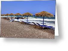 Kamari - Santorini Greeting Card