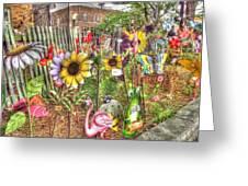 Kansas Flower Market Usa Greeting Card