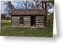 Kansas Log Cabin Greeting Card