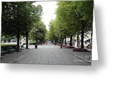 Karl Johans Gate Greeting Card